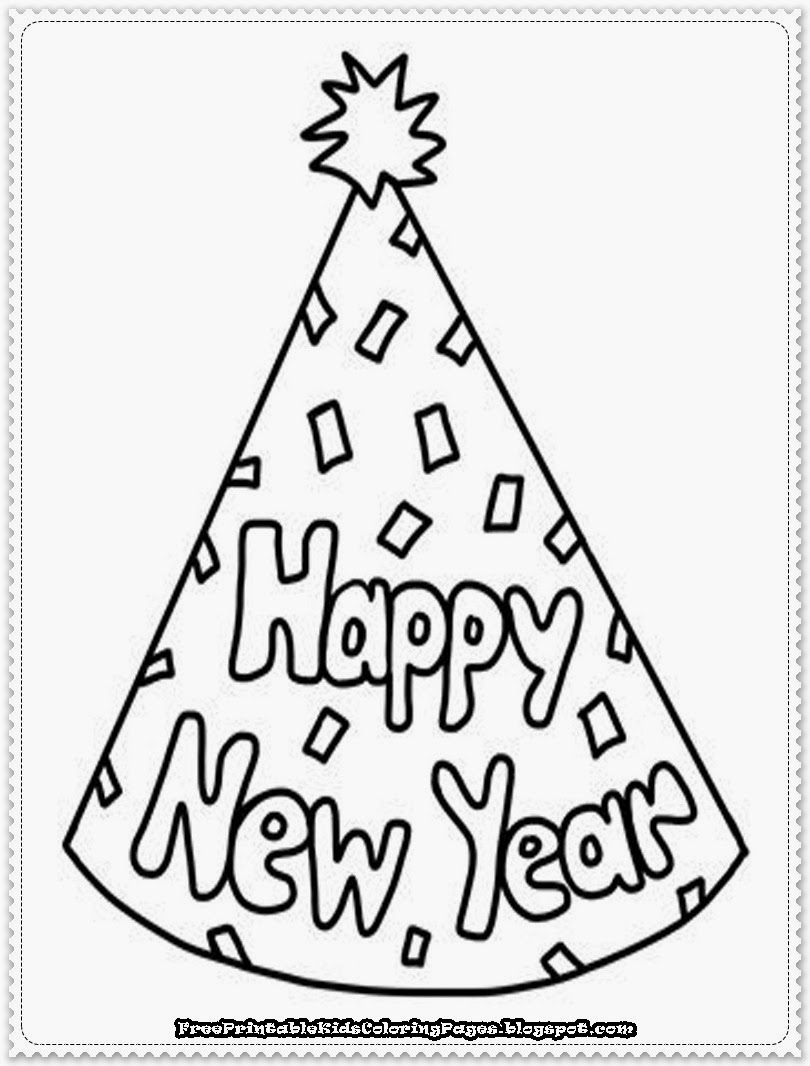 6 Images of New Year S Eve Printable Coloring Pages
