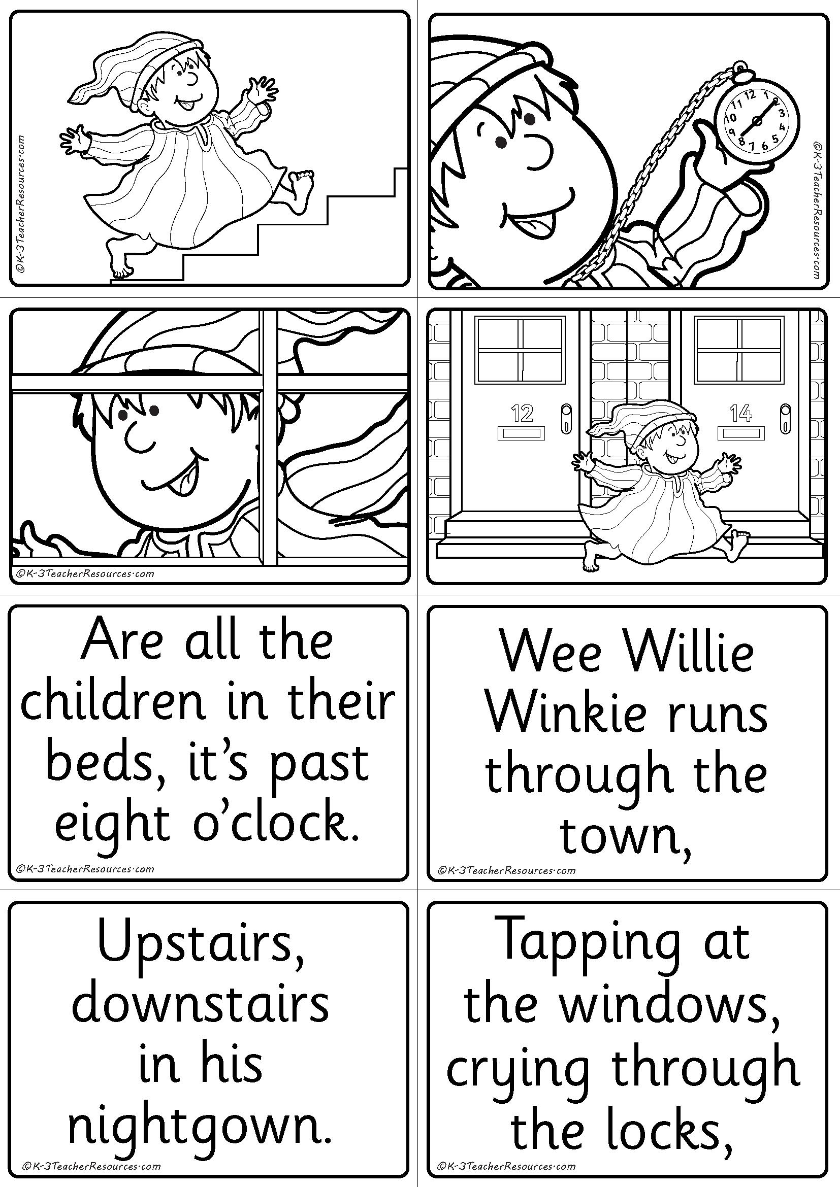 Nursery Rhyme Sequencing Worksheets