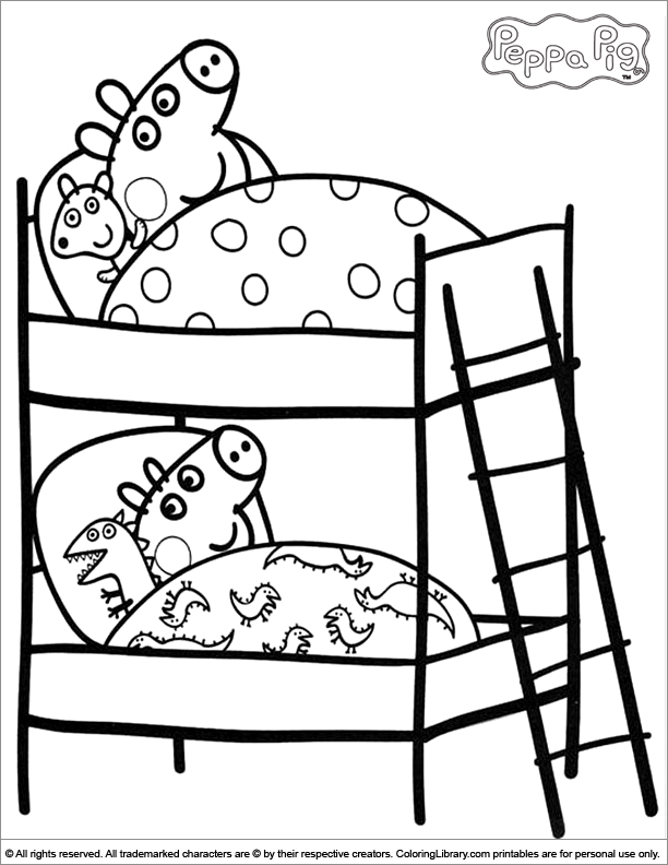 4 Images of Peppa Pig Coloring Pages Printable