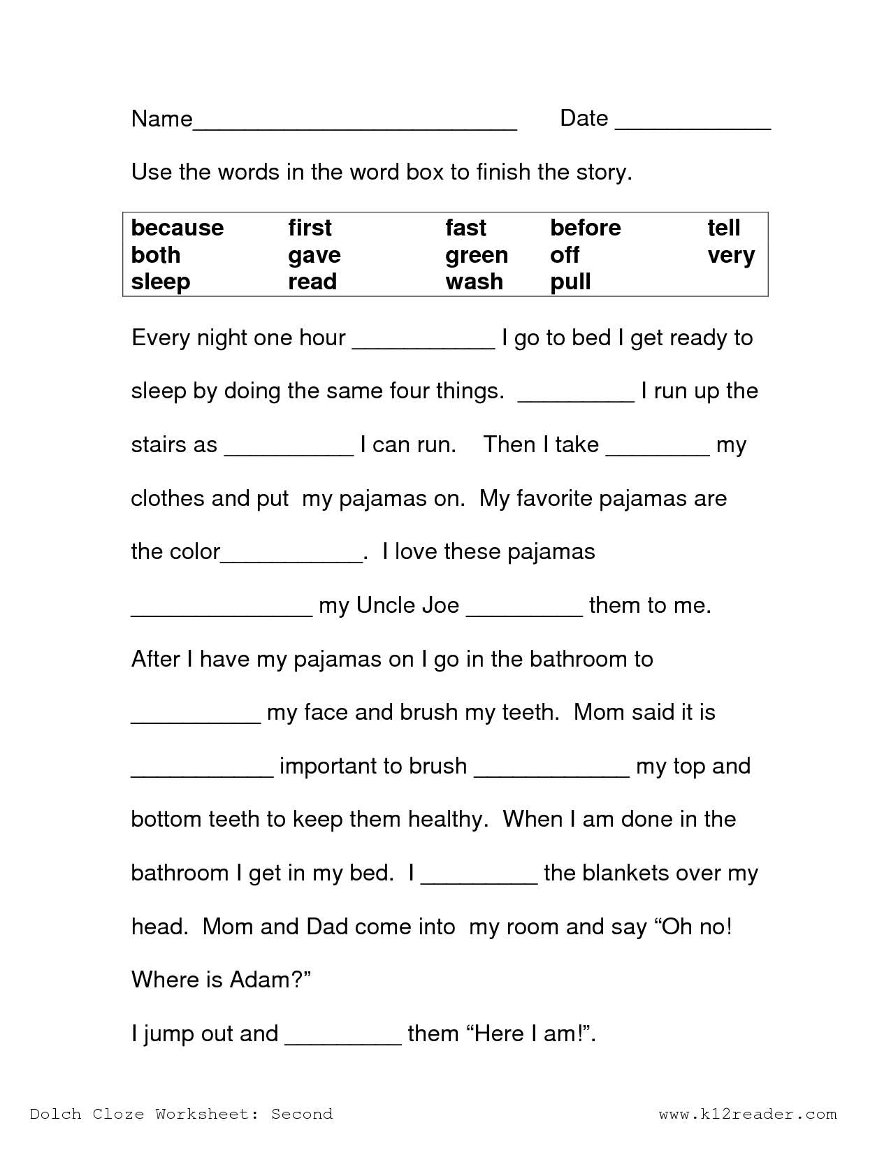 Printable Reading Worksheets : Best images of printable reading worksheets for nd