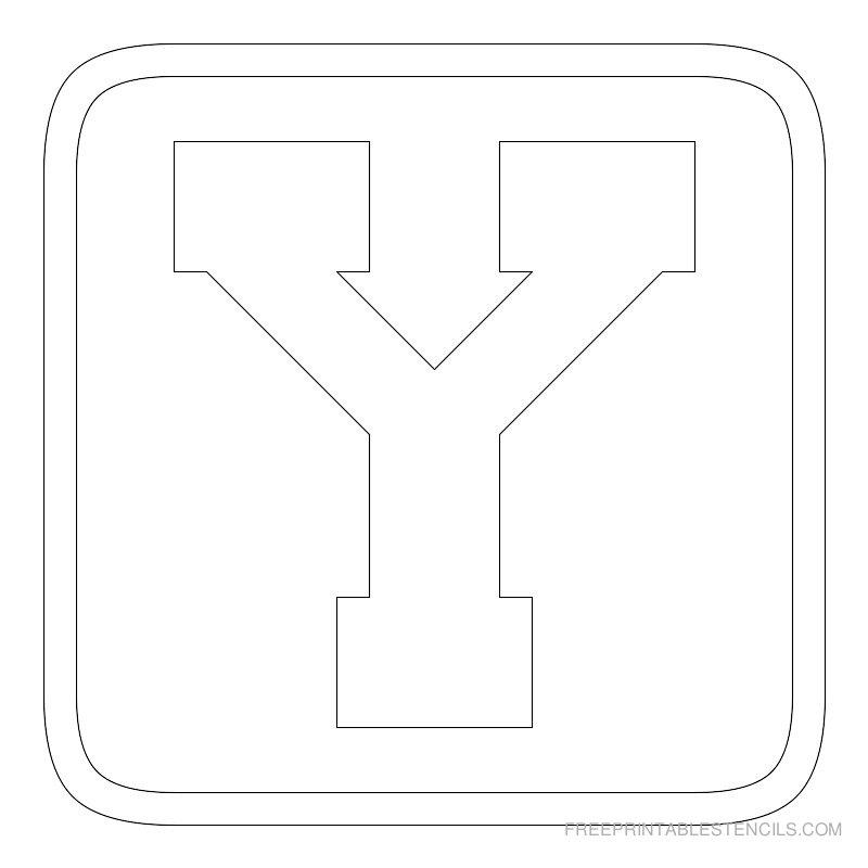 Printable Block Letter Stencils Y