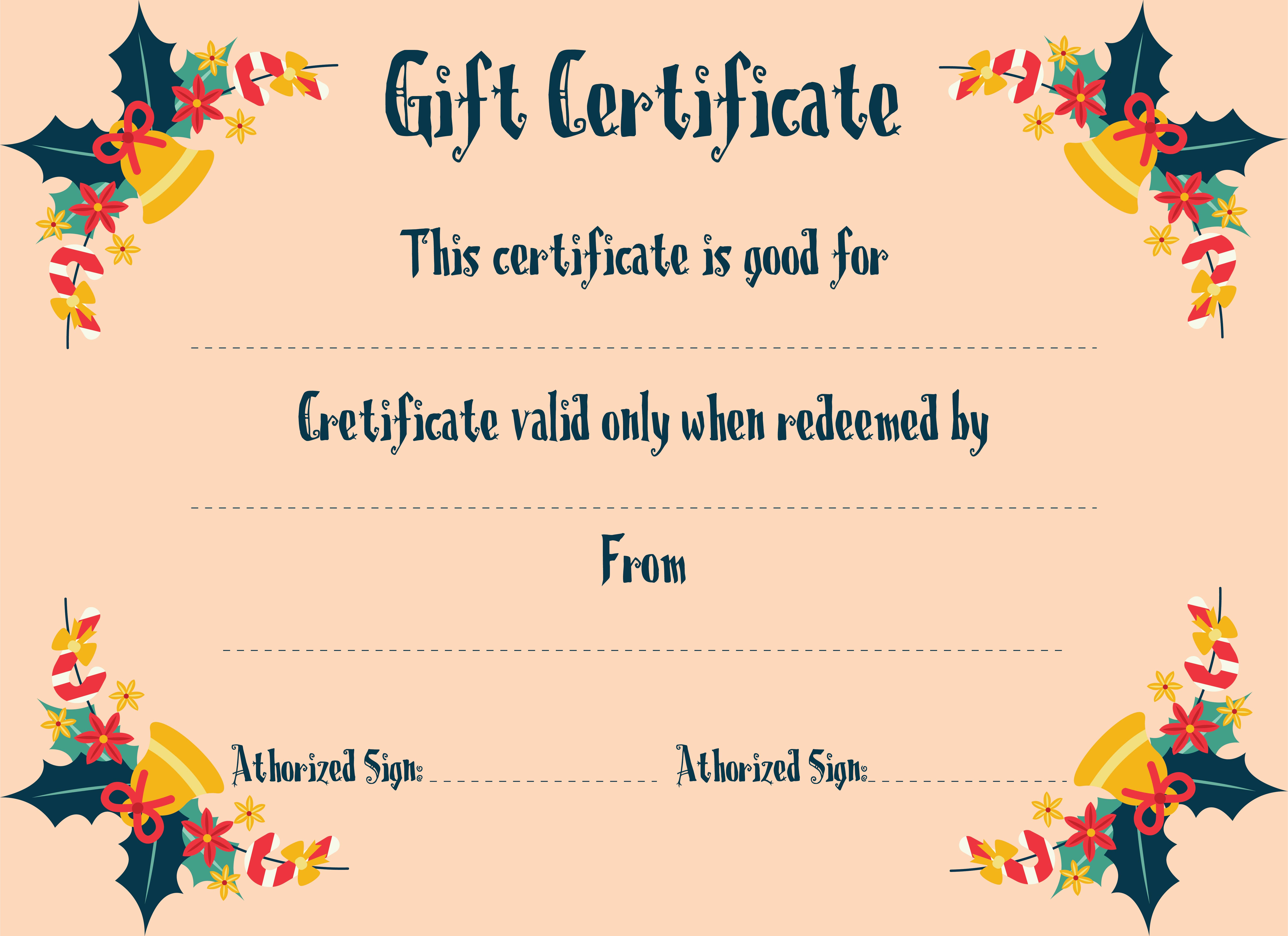 7 Images of Free Printable Christmas Gift Certificate Templates
