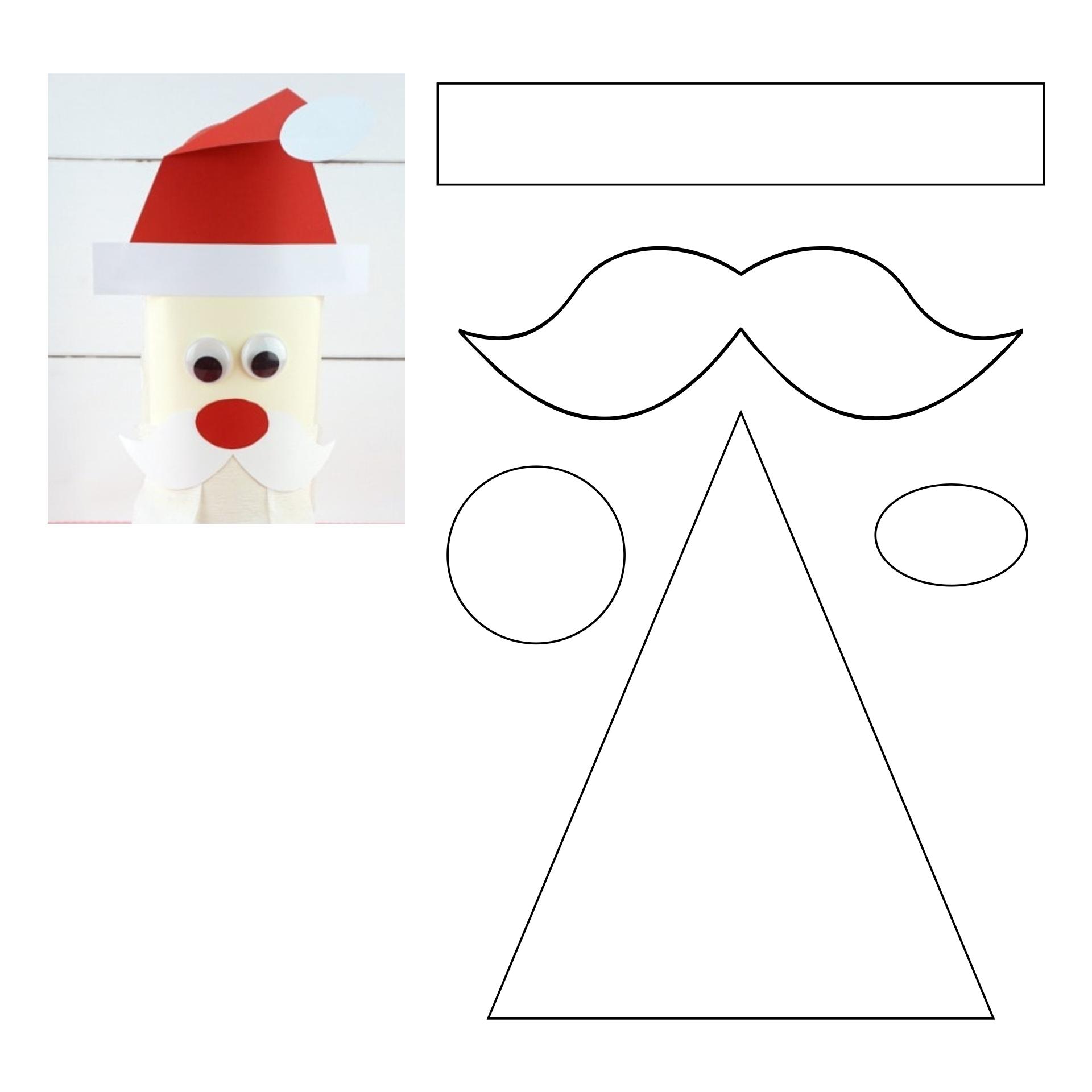 7 Images of Printables Santa Christmas Craft