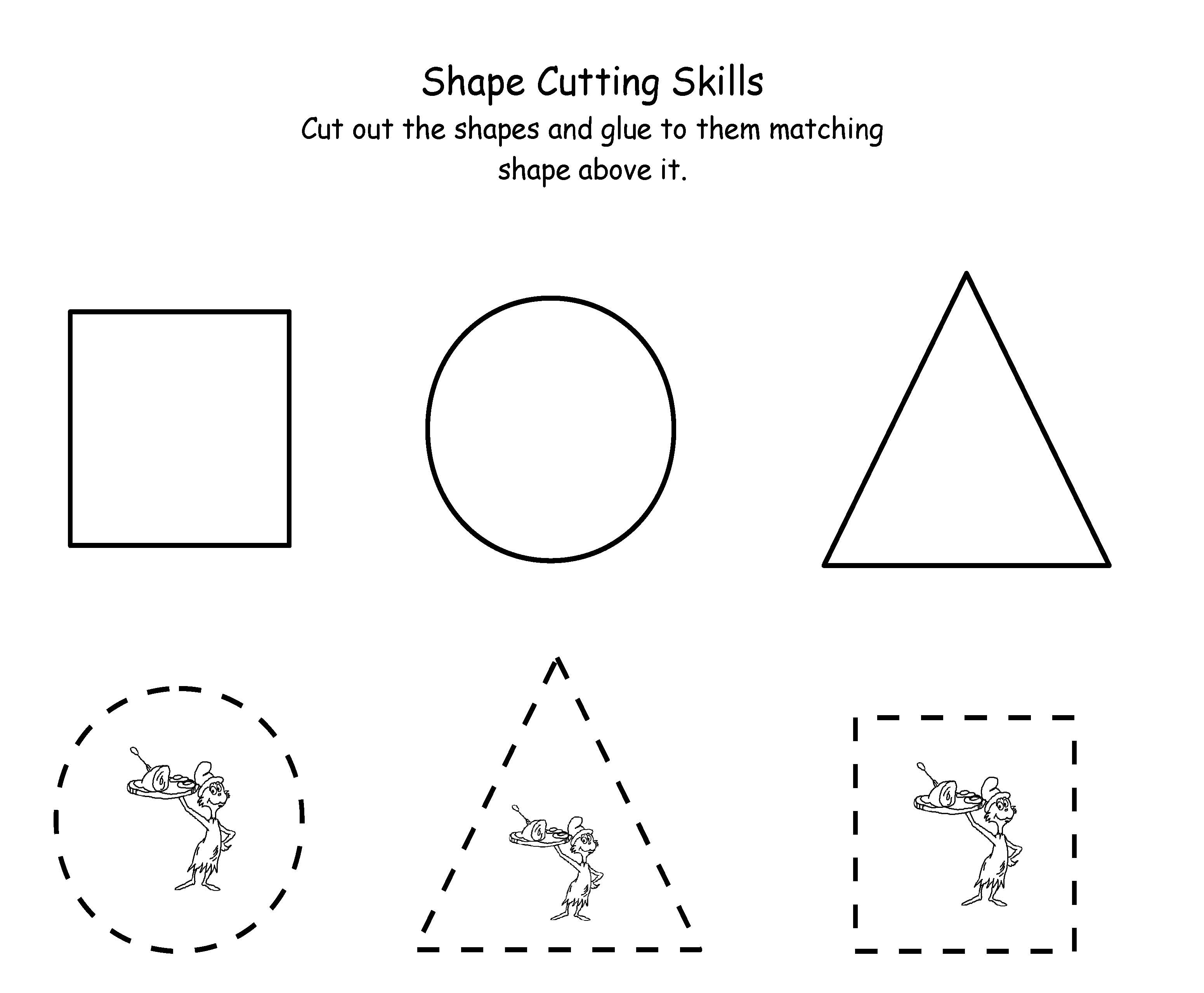 7 Images of Cutting Shapes Printables