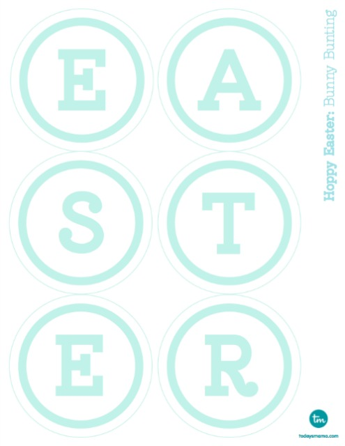 5 Images of Happy Easter Bunting Printable