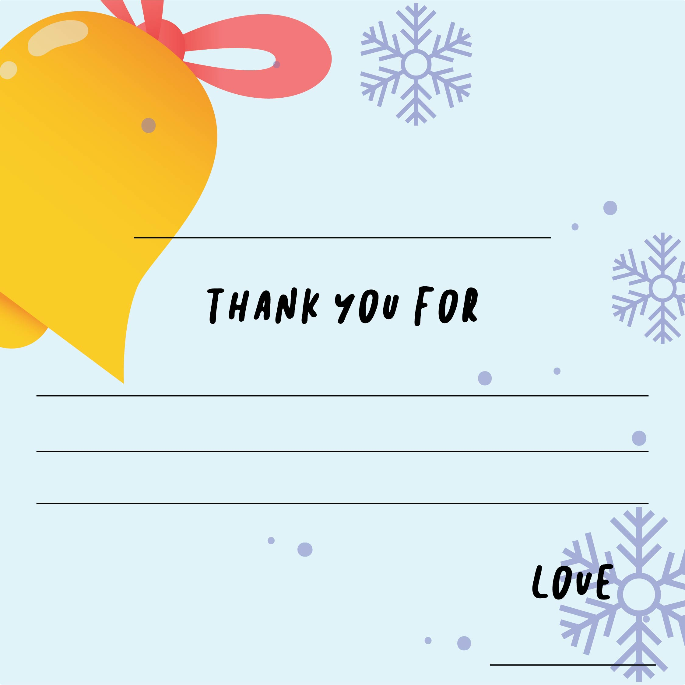 Printable Fill in Thank You Cards for Kids