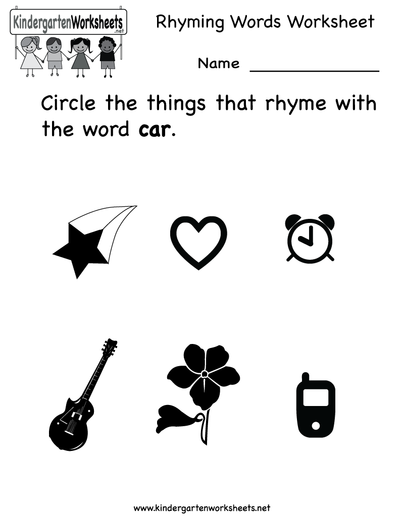 Worksheet Rhyme Words For Kindergarten worksheet rhyme words for kindergarten mikyu free rhyming worksheets understanding the worksheet