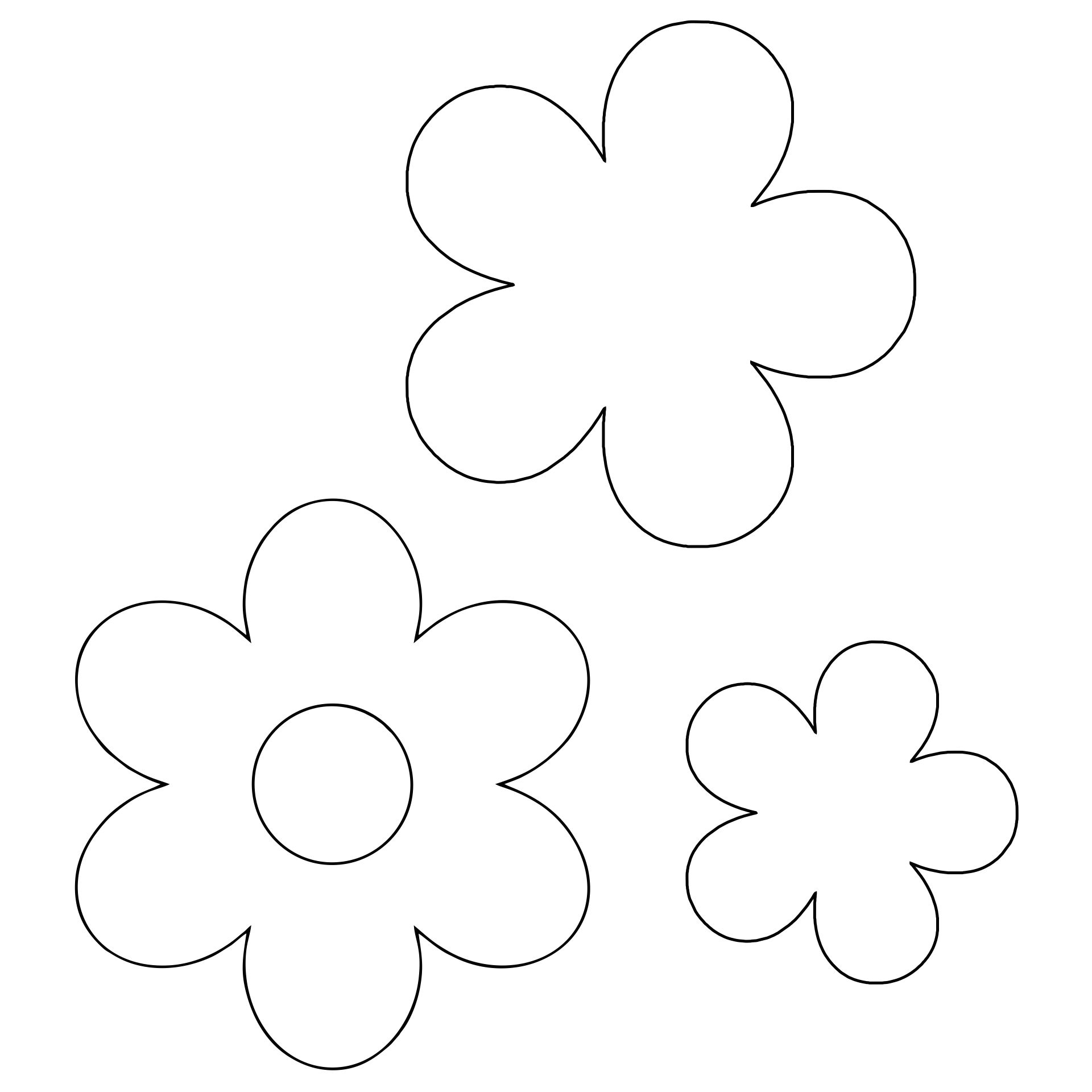 Printable Large Flower Template