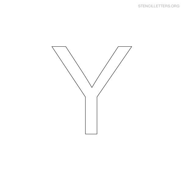 Printable Letters Stencils Y