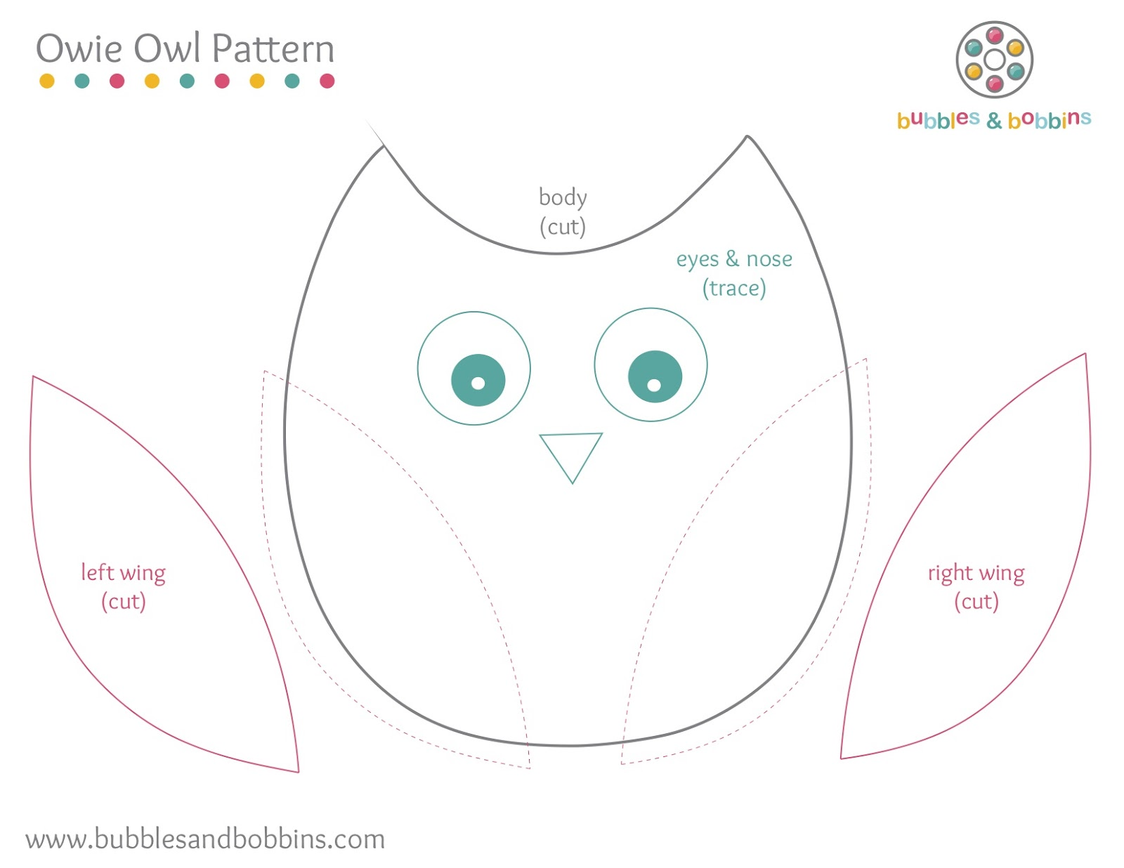 7 Images of Printable Owl Sewing Pattern