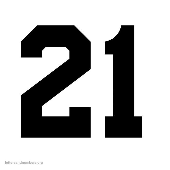 4 Images of Printable Number 21