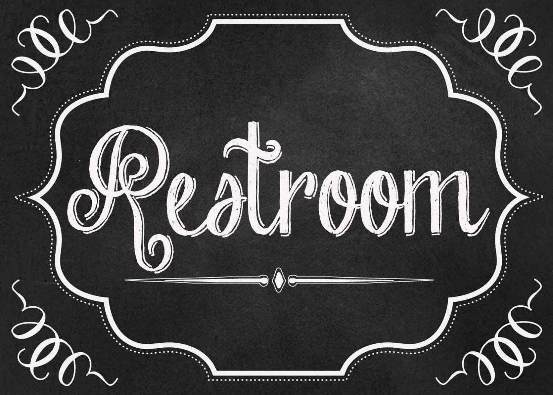 8 Best Images Of Vintage Bathroom Signs Printable