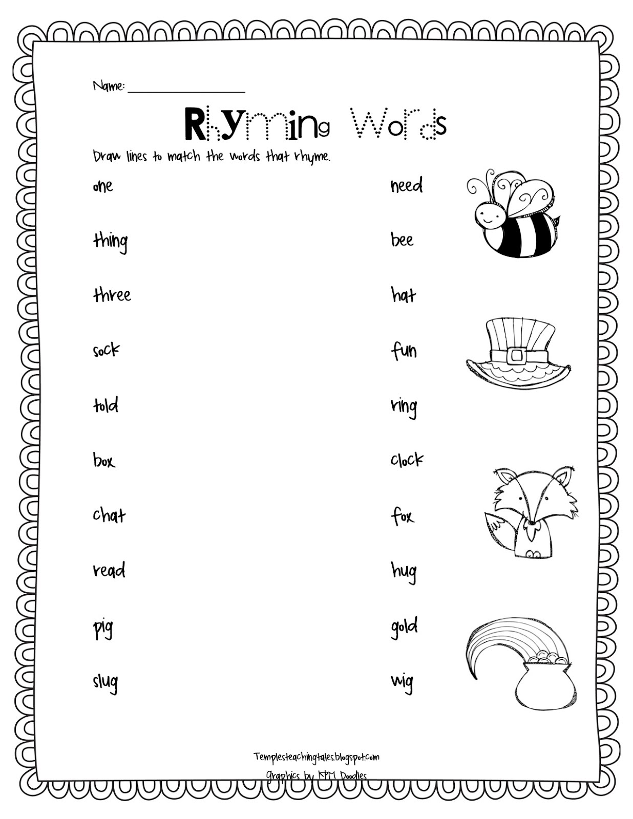 3 Letter Rhyming Words Worksheets - Coffemix