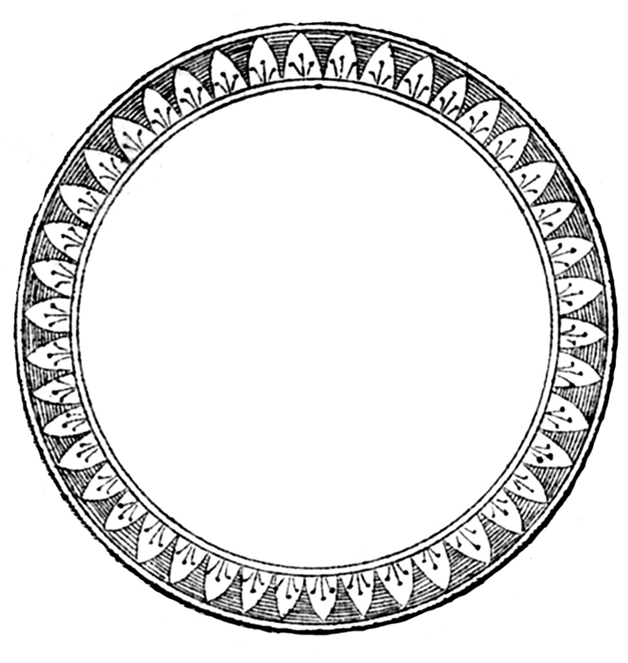 Round Vintage Frame Clip Art