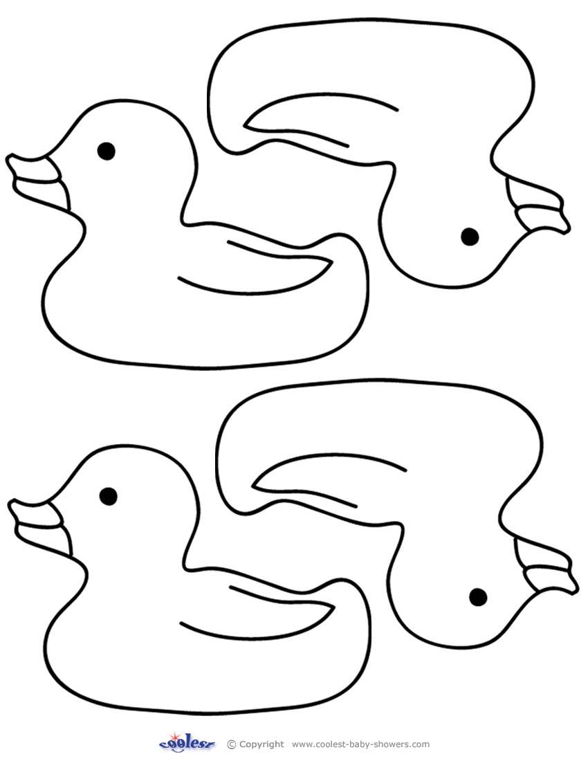 6 best images of free printable rubber ducky clip art for Baby duck coloring pages
