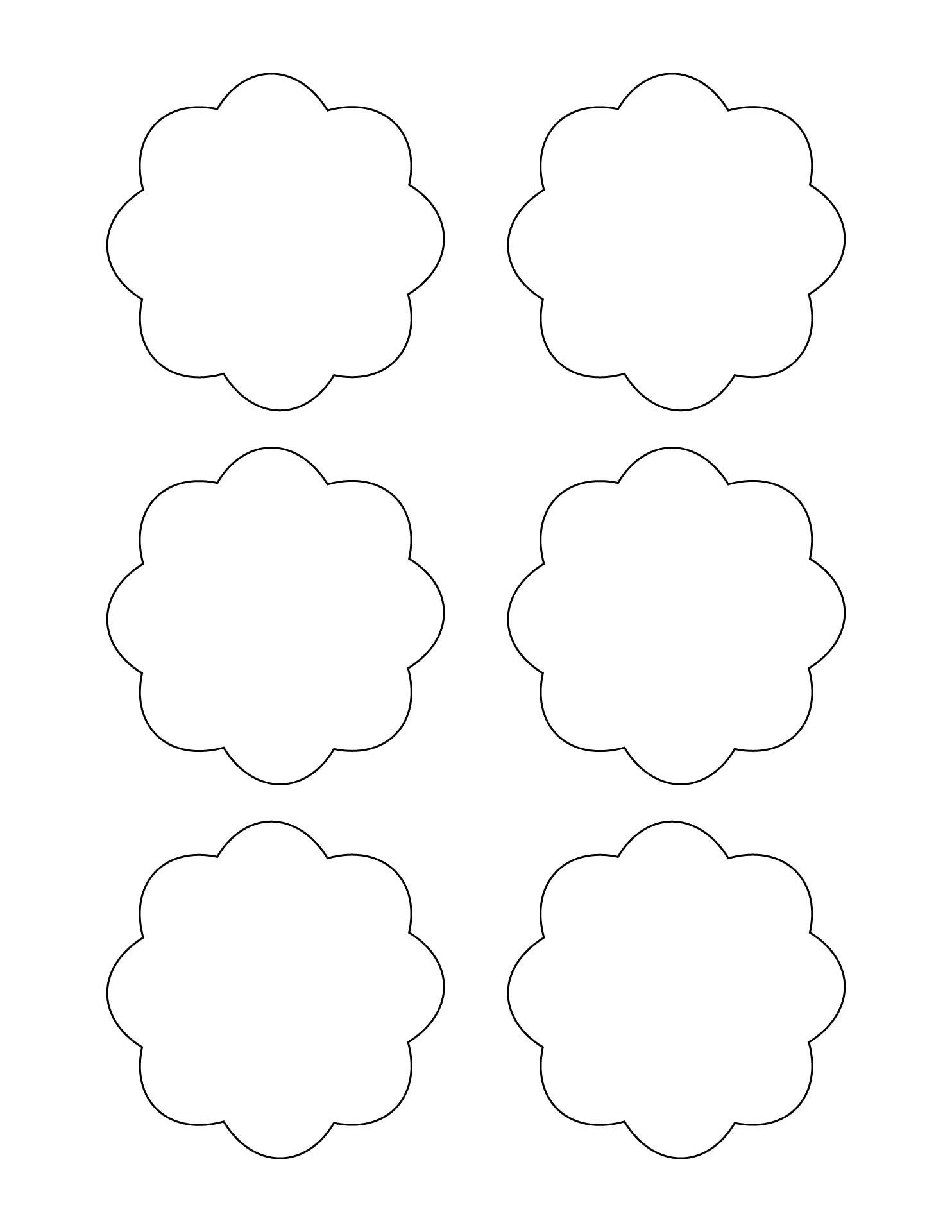 Scalloped Circle Template Printable