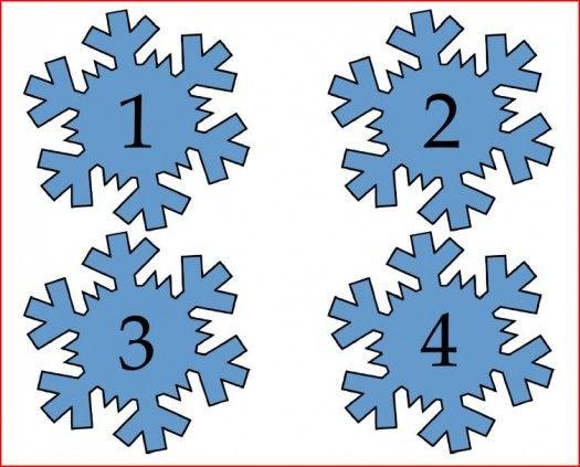 5 Images of Snowflake Numbers Printable