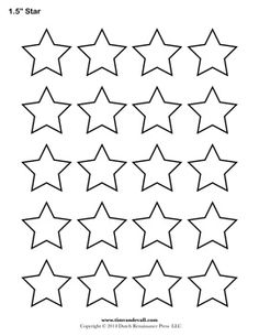 5 Images of American Flag Star Template Printable
