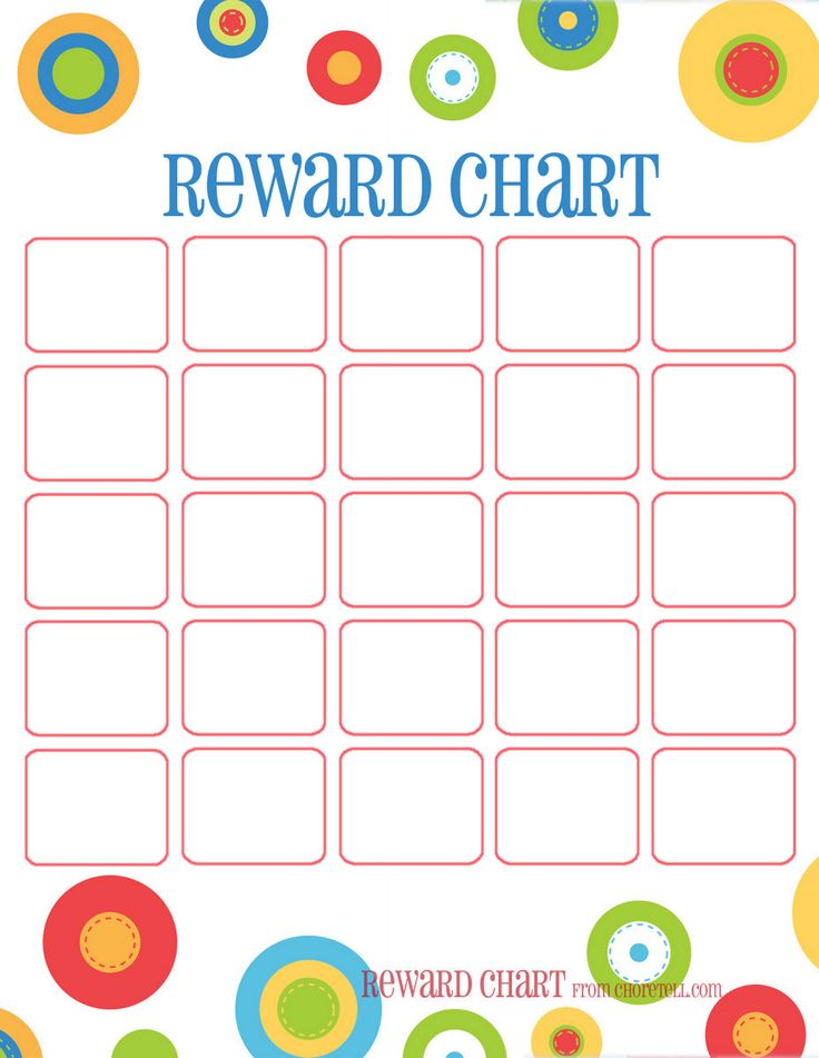 5 Images of Free Printable Reward Charts