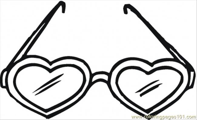 5 Images of Free Printable Heart Shaped Glasses