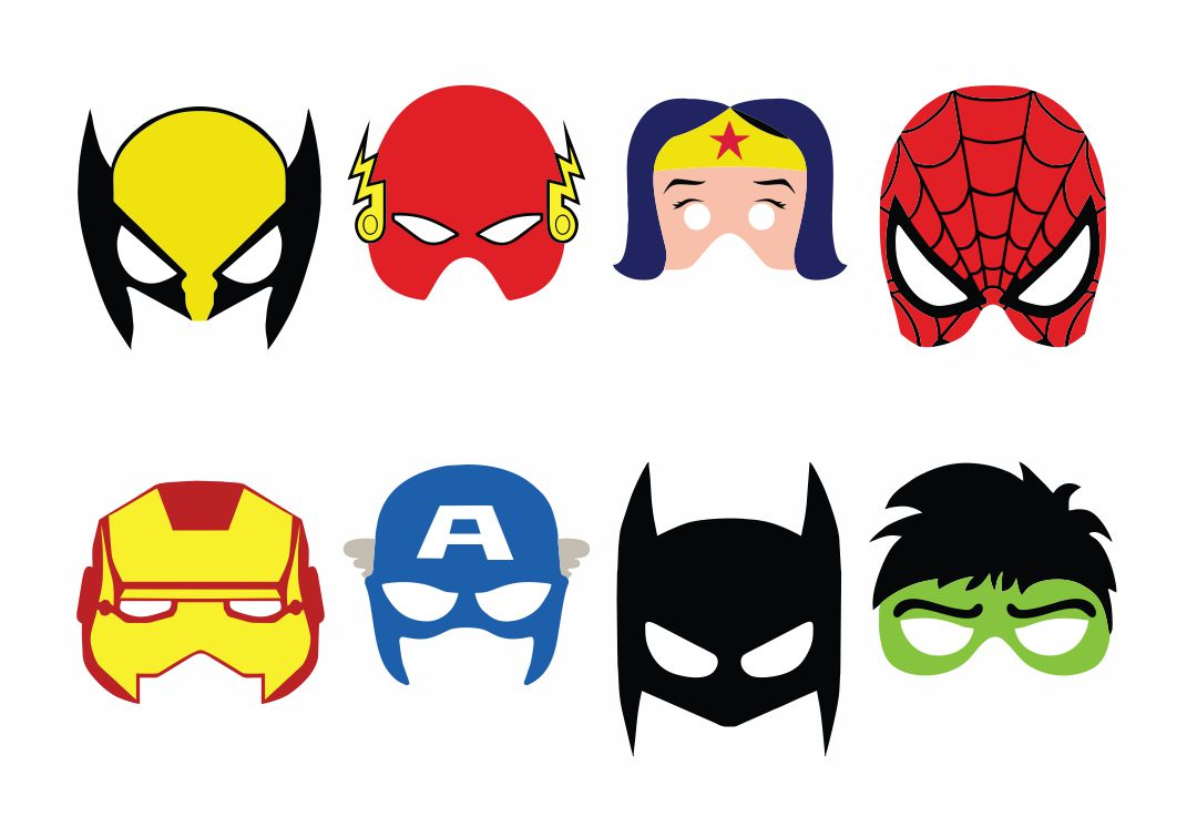 Superhero Mask Cut Out Printables