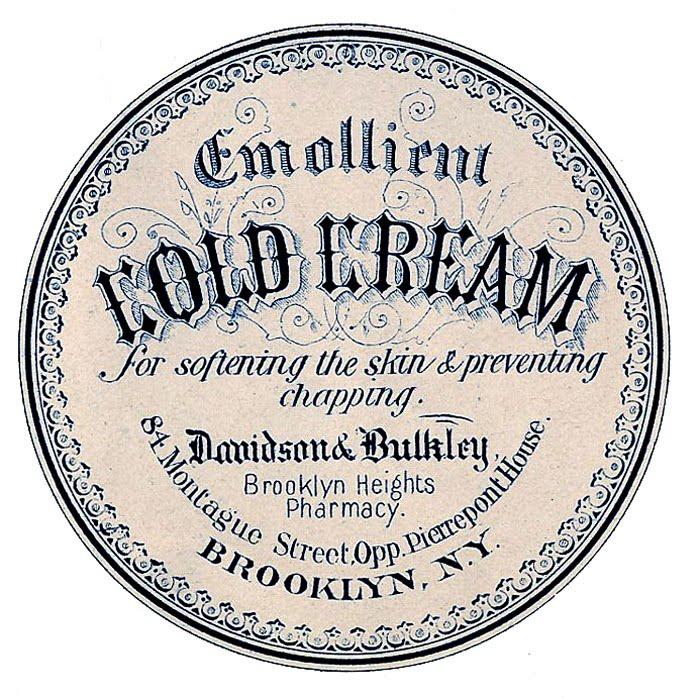 Vintage Cold Cream Label