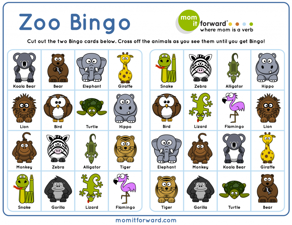 7 Images of Printable Animal Bingo