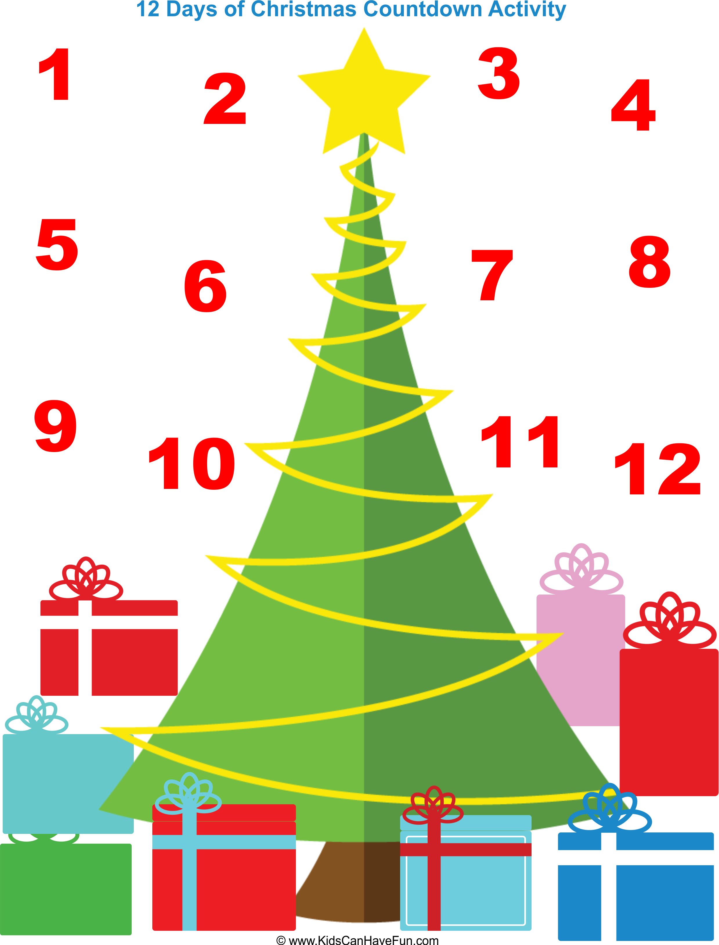4 Images of Printable Countdown To Christmas Days