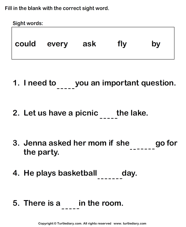 Worksheet 1st Grade Sight Word Worksheets 6 best images of first grade sight words printable worksheets 1st worksheets