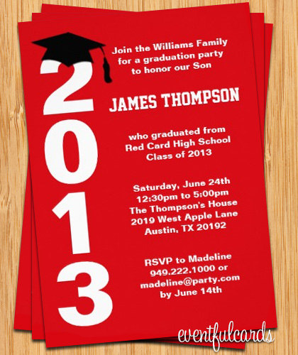 2015 Graduation Party Invitations
