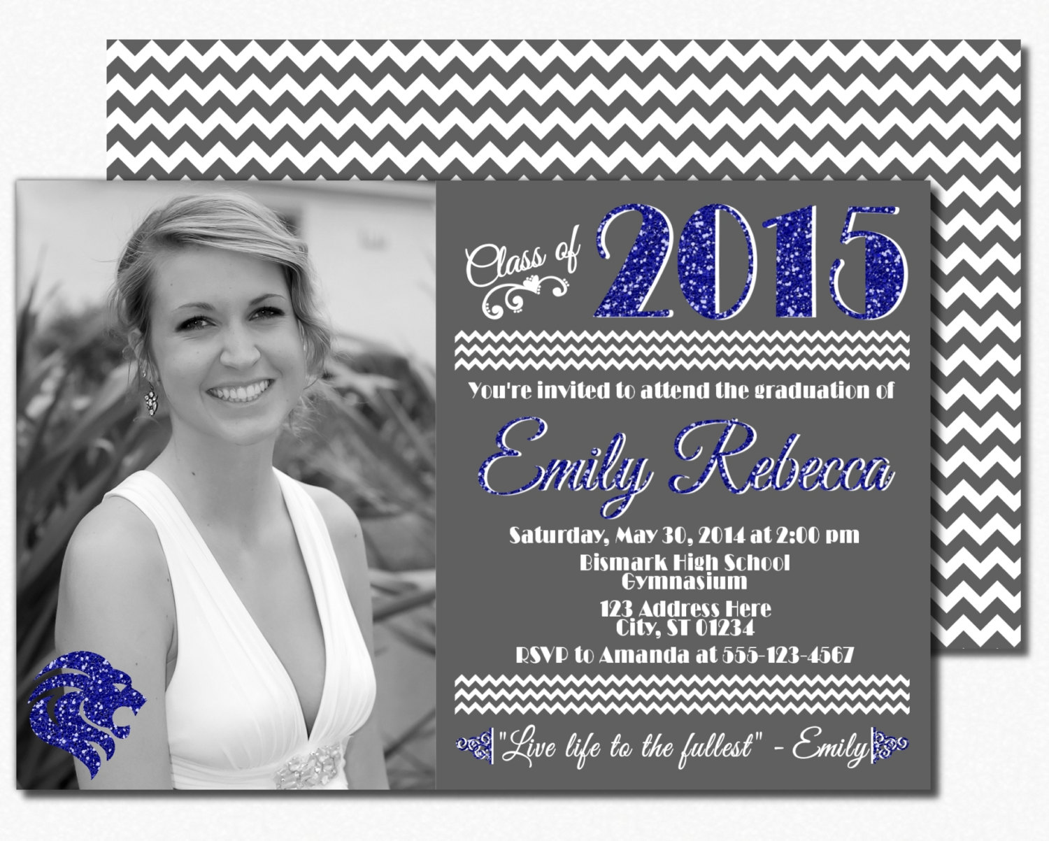 2015 High School Graduation Invitations