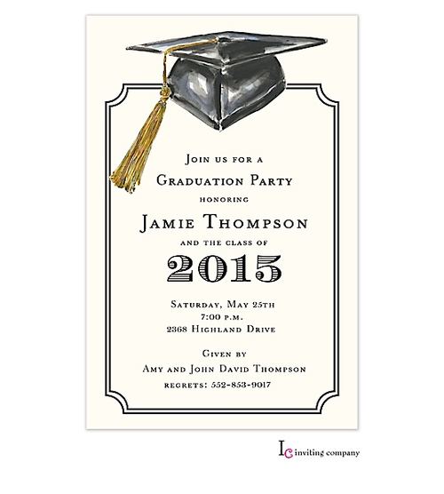 2016 High School Graduation Party Invitations