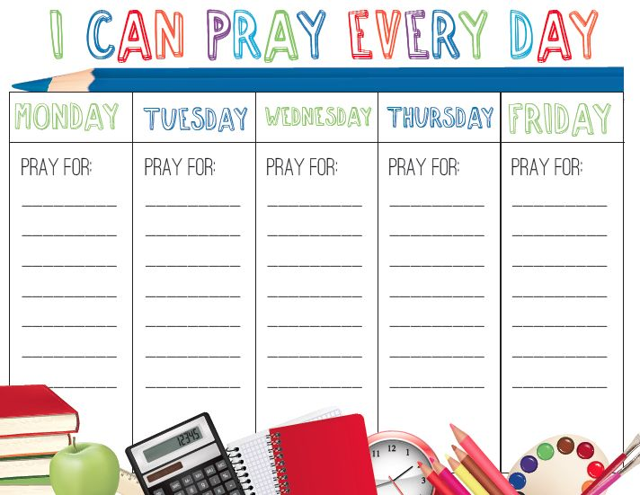 4 Images of Free Printable Prayer Charts