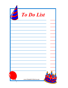 6 Images of Birthday Printable To Do List