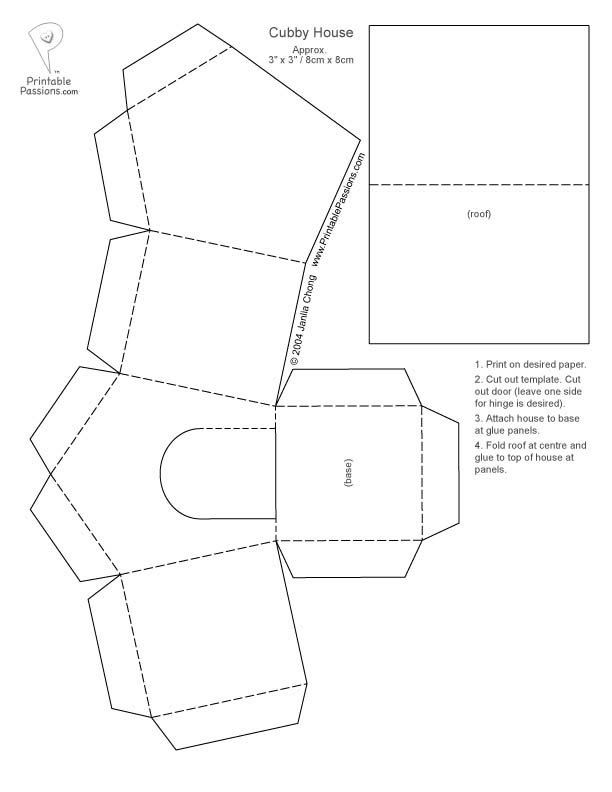 8 Images of Free House Printable Craft Templates