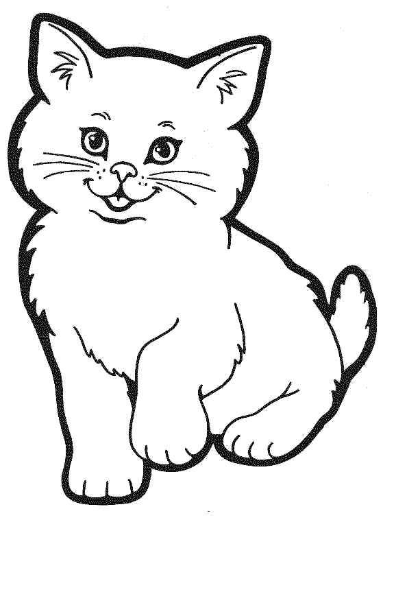 5 Images of Printable Coloring Pages Kitty Cat