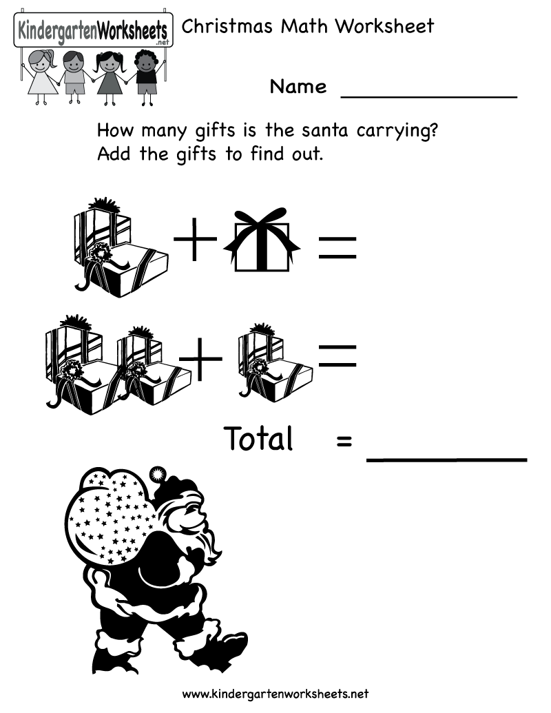 math worksheet : 8 best images of free christmas printable worksheets  free  : Christmas Kindergarten Worksheets