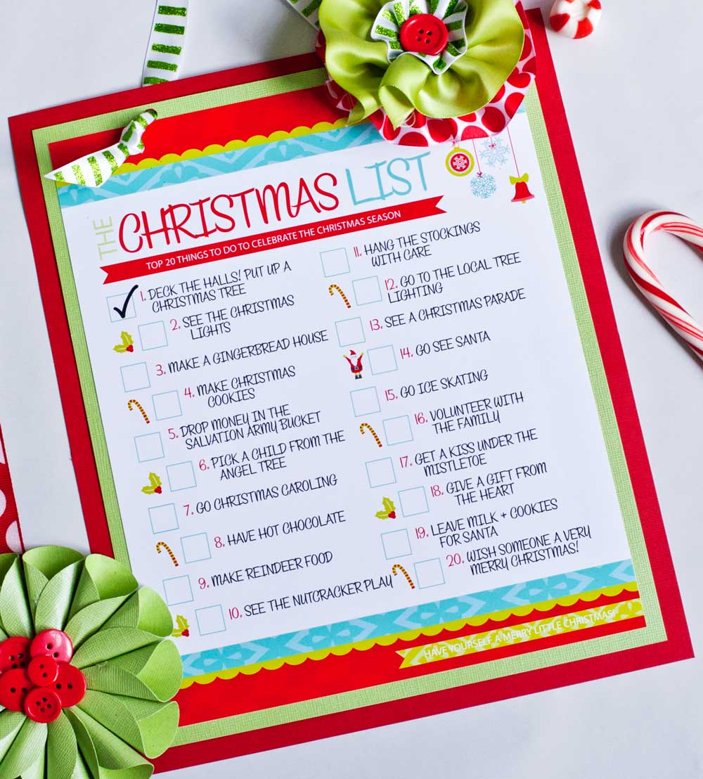 7 Images of Things Christmas Printable