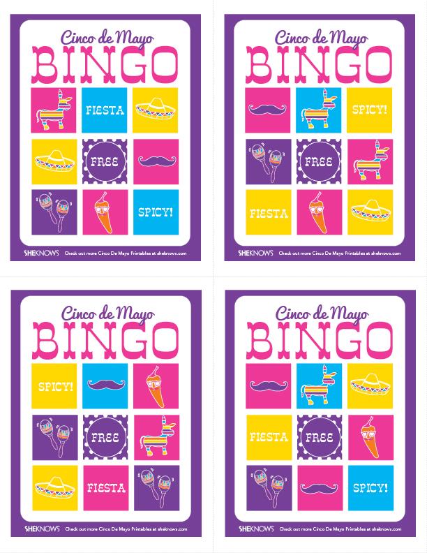 Cinco De Mayo Printable Bingo Games