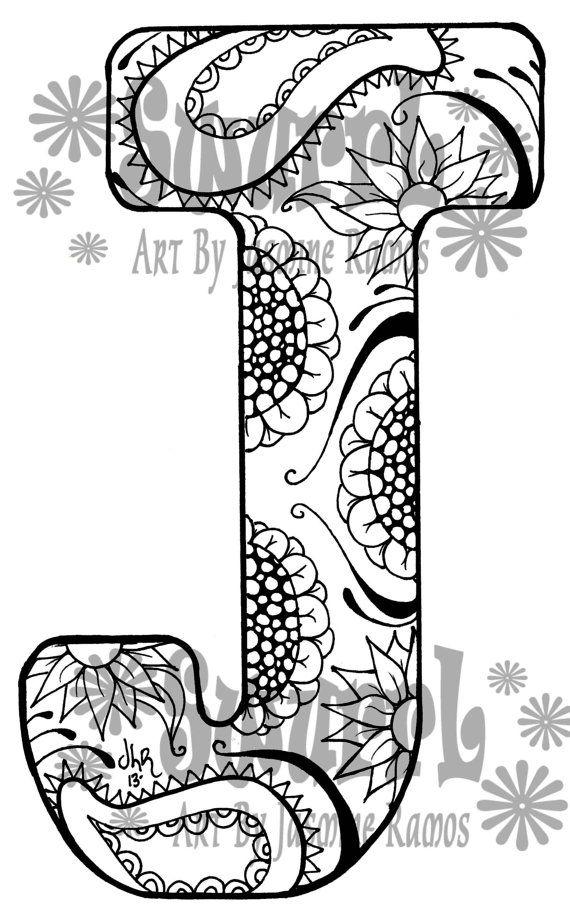 Coloring Pages Letter J Designs