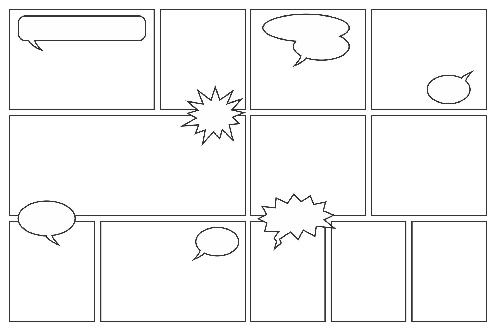 Comic Strip Template Printable