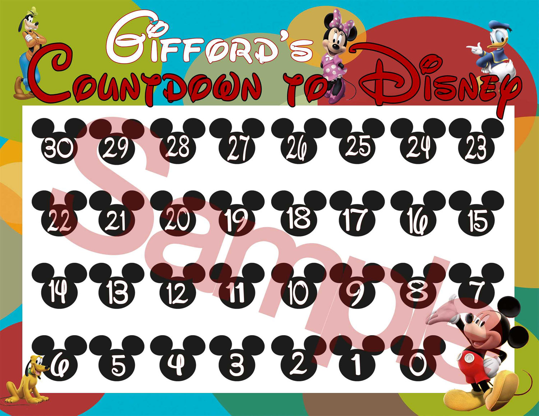 7 best images of disneyland countdown calendar printable disney world countdown calendar. Black Bedroom Furniture Sets. Home Design Ideas