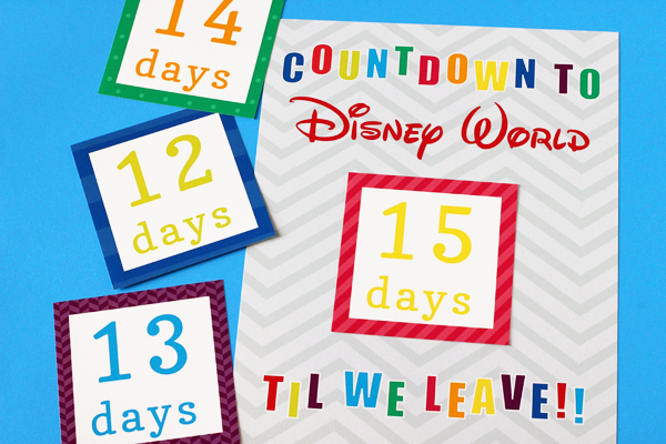 Disney World Countdown Calendar Printable