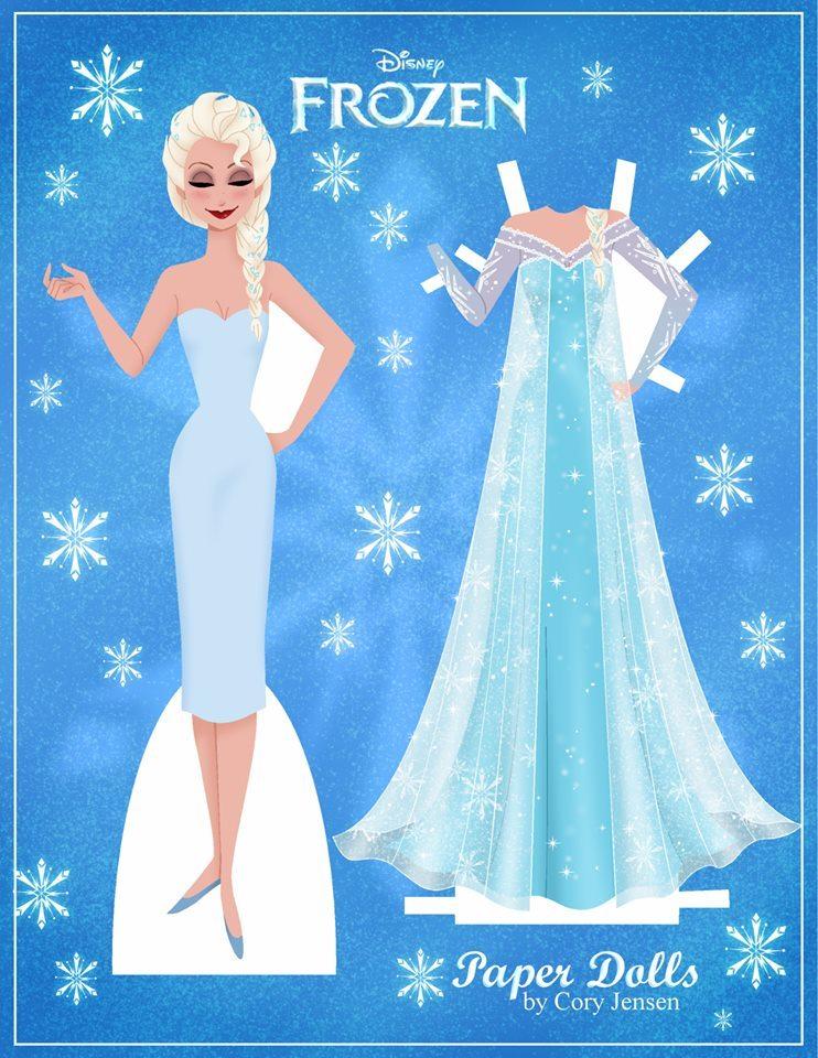 4 Images of Frozen Disney Paper Dolls Printable