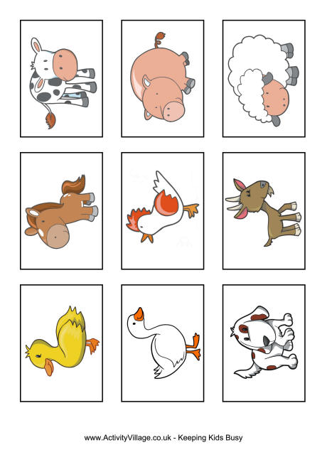 5 Images of Farm Animal Flash Cards Printable