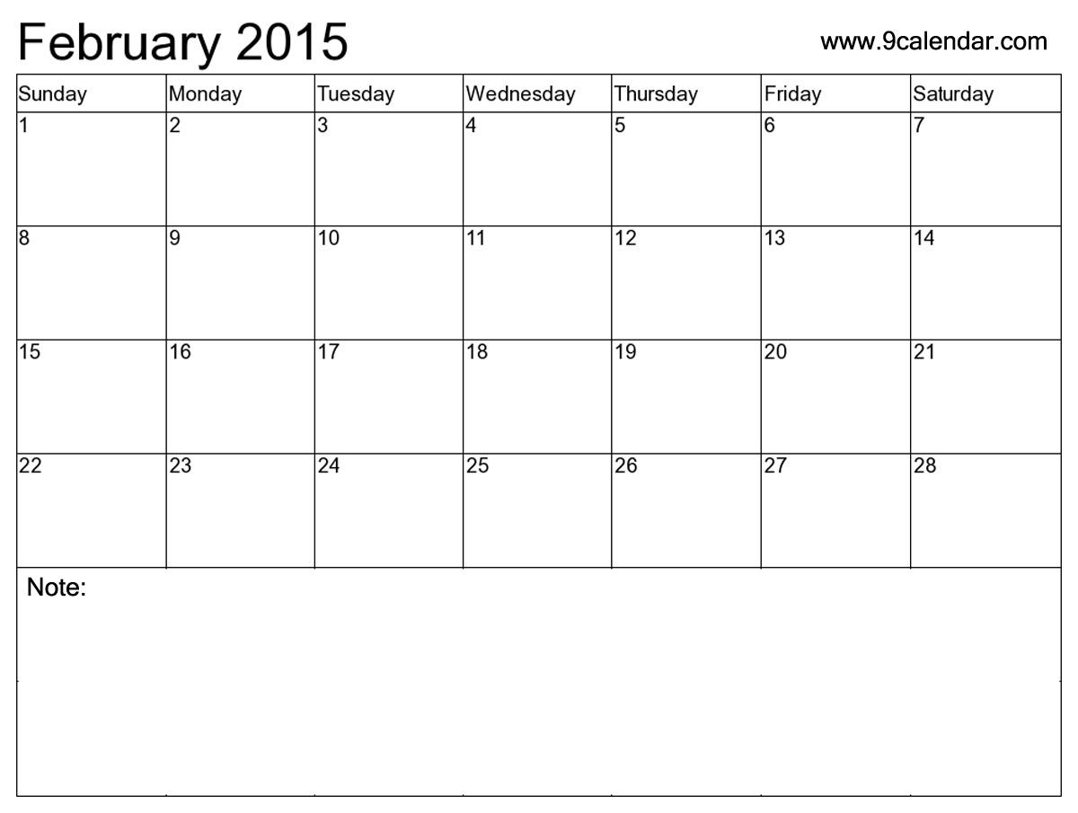 Calendar 2015 Printable - January 2016 Printable Calendar Template ...