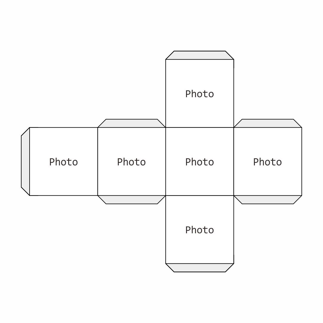 4 Images of Printable Cube Template 4 Inches