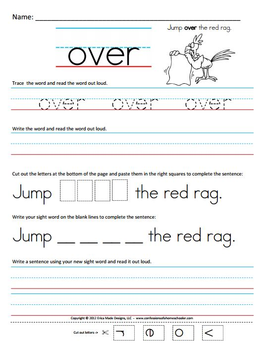 Printables Writing Worksheets For First Grade free worksheets for first grade writing intrepidpath 6 best images of sight words printable worksheets