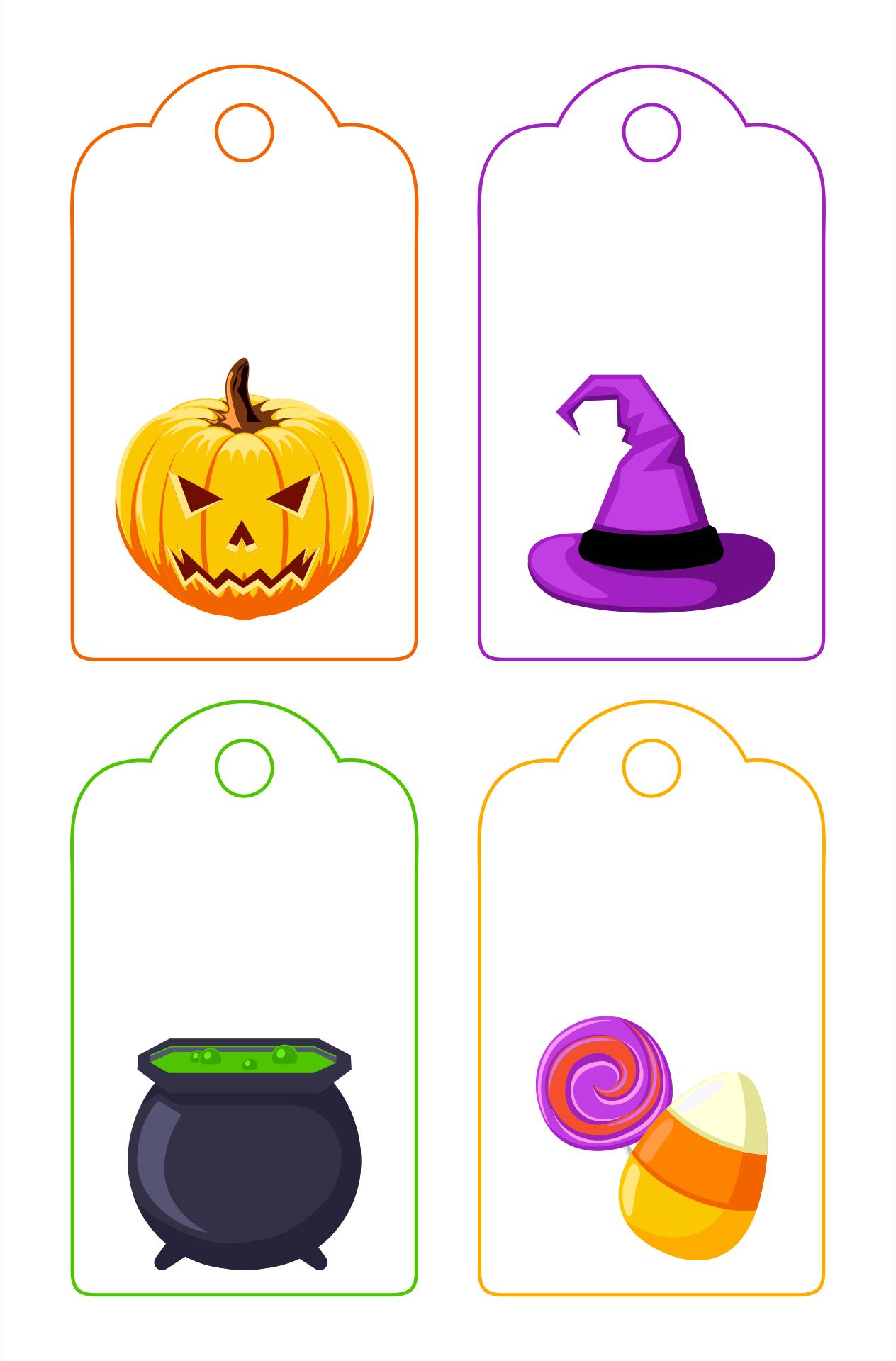 Halloween Tag Templates