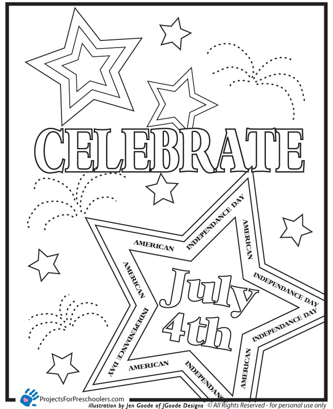 7 Best Images of 4th Of July Coloring Printables Free - Free July ...